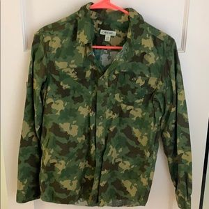 Cherokee Camouflage button down shirt